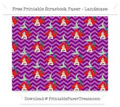 FreePurple Chevron Large Ariel Pattern Paper - The Little Mermaid