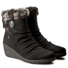 Magasított cipő RIEKER - Y0363-01 Schwarz Kombi