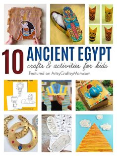 Ancient Egypt Crafts, Ancient Egypt For Kids, Egyptian Crafts, Greek Crafts, Mummy Crafts, Fun Crafts, Crafts For Kids, Craft Activities For Kids, Projects For Kids