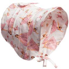 Powell Craft Baby Girls Pink 'Ballerina' Cotton Bonnet at Childrensalon.com