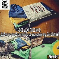 Διαγωνισμός του ifresh.gr με δώρο μια μπλούζα και ένα καπέλο από την Owl Clothes