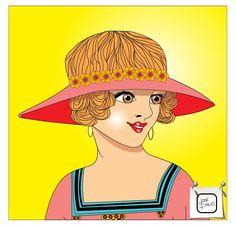 ROSTO DE UMA MOÇA - Detalhe Mostrando um detalhe da ilustração anterior. Desenho - Ilustração - Illustration - Drawing http://arterocha.blogspot.com.br