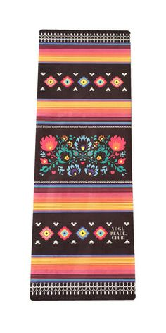 NEW PRINT - MEXICANA BLACK YOGA MAT