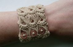 "This weekend I learnt broomstick lace. I saw a photo of a broomstick cuff on Ravely but the pattern just says ""work 3 groups of 5 stitches of broomstick lace for the length of your wrist."" which wa..."