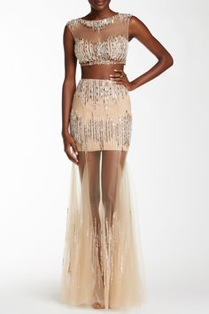 Sleeveless Embellished 2-Piece Gown by TERANI COUTURE on @HauteLook