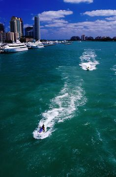 Jet skis on Biscayne Bay (Miami Beach, Florida)