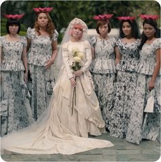 Artistic & Wacky Filipino Wedding : I really like the wedding gown. Horrible Wedding Dress, Ugly Wedding Dress, Vintage Bridesmaid Dresses, Brides And Bridesmaids, Wedding Attire, Wedding Gowns, Wedding Reception, Vintage Wedding Photos, Honeymoons