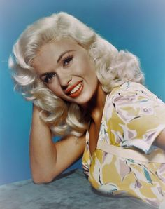 Jayne Mansfield - a publicity shot for her film,  'Kiss Them For Me', 1957