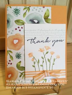 Big Sky Stampin': Background Bits Thank You 2017 Background, Grateful, Thankful, Stamping Up Cards, Big Sky, Creative Cards, Flower Cards, Greeting Cards Handmade, Scrapbook Cards