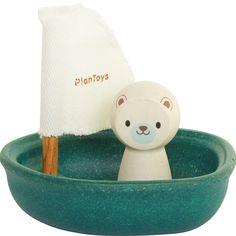 Segelboot mit Eisbär, Bunt