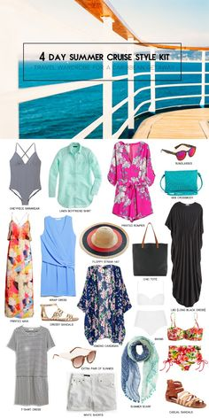 What to pack for a 4-Day Caribbean cruise | Kinks are the new Pink #cruiseoutfits