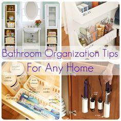 Bathroom Organization Tips for Any Home. http://blog.homes.com/2013/02/bathroom-organization-tips-for-any-home/# #DIY #Organization