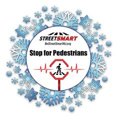 Winter Safety Tips from the Street Smart NJ pedestrian safety campaign. Stop for pedestrians #BeStreetSmartNJ