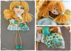 Pins and pendants - Angela's Expressions Pendants, Dolls, Christmas Ornaments, Holiday Decor, Handmade, Home Decor, Baby Dolls, Hand Made, Decoration Home