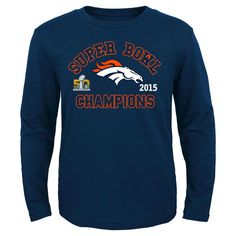 Denver Broncos Youth Super Bowl 50 Champions Youth Long-Sleeve T-Shirt M, Kids Unisex, Size: Medium, Multi-Colored