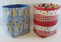 Scrappy Fabric Baskets | AllFreeSewing.com