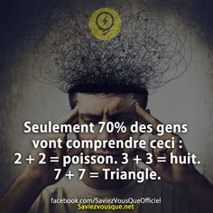 Pin by on citation sur la vie Things To Know, Did You Know, Little Things Quotes, Funny Facts, Amazing Quotes, Illusions, Face Makeup, How To Look Better, Jokes