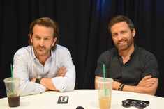 You've seen them on Supernatural and soon you'll love them in Kings of Con, it's a never before published photo set of Rob & Rich! Oscar Wilde, Kings Of Con, Rob Benedict, Richard Speight, Supernatural Funny, Destiel, I Need You, Beautiful Men, Tv Shows