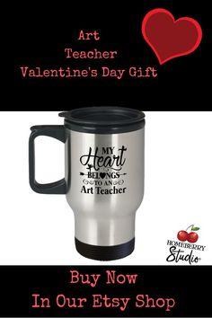 art teacher valentines, art teacher mug, art teacher gifts etsy, art teacher cups, art teacher gift ideas