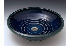 Beautiful deep blue midnight glaze with dark rim highlights.