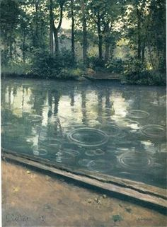 The Yerres, Rain - Gustave Caillebotte