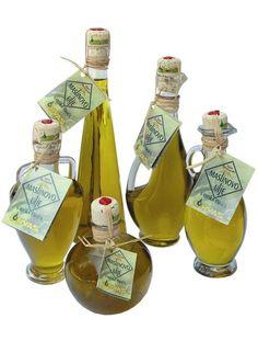 Extra virgin olive oil. Various types of packaging. Island of Brac, Croatia.