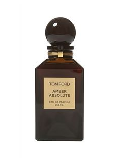 Tom Ford Amber Absolute With a name like Amber Absolute, you can bet it's going to smell like a whole lot of, well, amber. Fans of Tom Ford fragrances will also appreciate the addition of patchouli and vanilla bean.