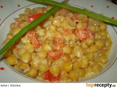 Cizrna s rajčaty Chana Masala, Vegetable Recipes, Bon Appetit, Healthy Recipes, Food And Drink, Vegetables, Ethnic Recipes, Kitchen, Detail
