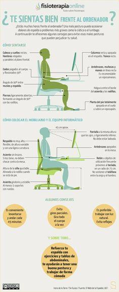Muchas personas pasan cientos de horas al mes sentados frente al ordenador. Para todas ellas estos consejos. http://www.fisioterapia-online.com/videos/como-sentarse-bien-en-el-trabajo http://www.fisioterapia-online.com/videos/higiene-postural-en-el-trabajo-ejercicios-de-bascula-pelvica http://www.fisioterapia-online.com/articulos/se-me-carga-la-espalda-en-el-trabajo-que-puedo-hacer