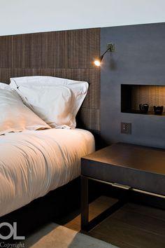 Night stand detail - Villa Espinette Belgium - interior by Hélène et Olivier Lempereur - Architecture by Marc Corbiau