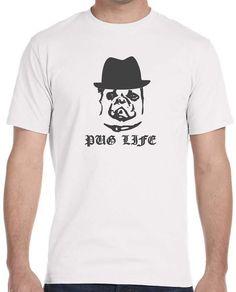 Pug Life Love dog T- Shirt Tee Custom Fit FREE SHIPPING SIZE S M L XL #Gildan…