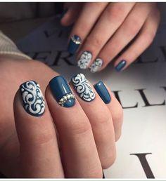 Beautiful evening nails, Emerald nails, Evening nails, Graduation nails, Green and white nails, Nails with curls, Nails with rhinestones, Nails with rhinestones ideas