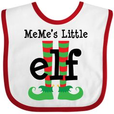 Inktastic Mimi's Little Elf Baby Bib Mimi Christmas Feet Kids Holiday Gift Hws - Baby Bibs & Burp Cloths - Best baby care Nephew Gifts, Grandma Gifts, Gifts For Mom, Baby Girl Gift Sets, Baby Girl Gifts, Toddler Bibs, Baby Bibs, I Love Mommy, Baby Dachshund