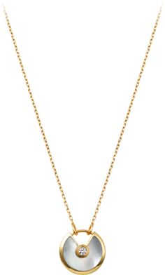 CRB3047500 - Amulette de Cartier necklace - Yellow gold, diamond, white mother-of-pearl - Cartier