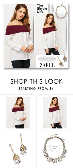 """""""The simple life"""" by merima-kopic ❤ liked on Polyvore featuring trend, zaful and lovezaful"""