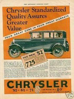 "Chrysler ""52"" Car Color (1928)"