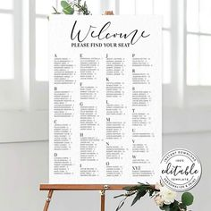Table Seating Chart, Seating Chart Template, Seating Chart Wedding, Wedding Menu, Wedding Signs, Wedding Cards, Free Wedding Templates, Baby Shower Items, Wedding Announcements