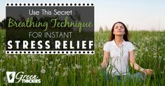 Use This Secret Breathing Technique For Instant Stress Relief Breathing Techniques, Pranayama, Stress And Anxiety, Stress Relief, How To Relieve Stress, Exercises, Mindfulness, Wellness, Tools