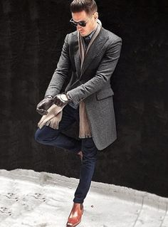 Male beauty and others men's winter fashion outfits, mens winter boots fashion, mens autumn Fashion Mode, Suit Fashion, Mens Fashion, Fashion Outfits, Style Fashion, Fashion Photo, Leather Fashion, Fashion News, Fashion Trends