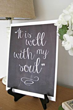 It Is Well With My Soul Print Old Hymn Print by LoveAndaPrayer, $10.00