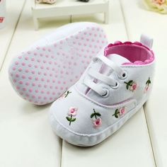 Baby Girl Flower Shoes Baby Spring/Autumn Princess Shoes First Walkers Footwear Toddler Soft Sole Shoes Free Shipping