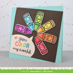 Lawn Fawn Intro: Treat Yourself and Color My World - the Lawn Fawn blog