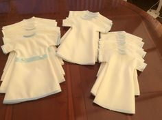 January 2018, a selection of items that make up our baby Bereavement Packs, made by our wonderful volunteers to ensure every UK Angel Baby has the chance to be dressed in a gorgeous Angel gown, with accompanying blanket, nappy, hat and bootees. All gowns made from a UK donated wedding dress.