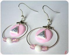 """Boucles d'oreilles """" Sweet pink"""" : Boucles d'oreille par mamzellesuzanne"""