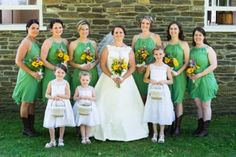 We couldn't wait to see Krysten's photos the second she told us about her theme. We love the cowboy boots!! #bridalparty #bridesmaids #wedding #bride #summerwedding #country #angelasbridal #upstatenewyork