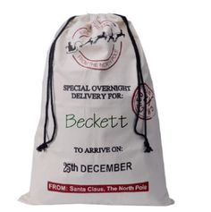Personalized Santa Sack by SpyVStyle on Etsy
