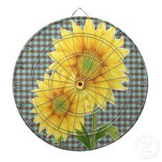 Sunflowers Green Dartboard