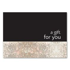 Faux Silver Sequins Black Salon Gift Certificate Business Card Templates. This great business card design is available for customization. All text style, colors, sizes can be modified to fit your needs. Just click the image to learn more!