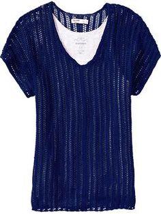 Women's Pointelle Dolman-Sleeve Sweaters | Old Navy