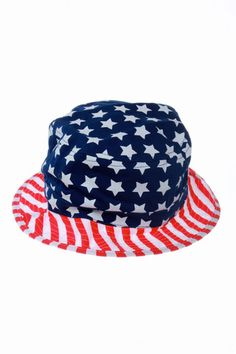 a01d54b2fe6 Uncle Sam s American Flag Bucket Hat